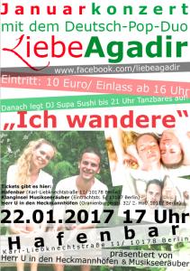 Liebe Agadir Evelin Dahm Fabian Fiedler Hafenbar Berlin Konzert Musikseeräuber Klanginsel Musikschule Berlin